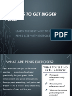 Have a Small Penis Gain 2-3 Inches Naturally by Penis Exercises
