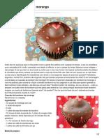 Cupcake bombom de morango