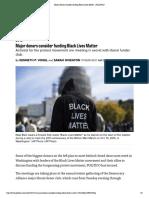 Major Donors Consider Funding Black Lives Matter - POLITICO