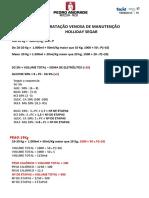 PEDIATRIA - HIDRATAÇÃO VENOSA DE MANUTENÇÃO - HOLLIDAY SEGAR