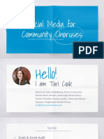 Social Media Strategies for Choruses Presentation