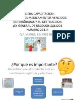 RETIRO DE LOS MEDICAMENTOS VENCIDOS, DETERIORADOS Y