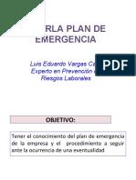 PLAN DE EMEREGENCIA presentacion capacitacion