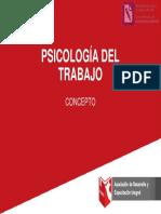 CONCEPTOS PSICOLOGIA DEL TRABAJO