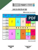 HORARIO AIP 2020 oficial