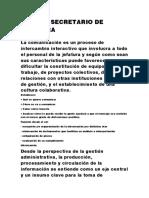 ROL DEL SECRETARIO DE JEFATURA