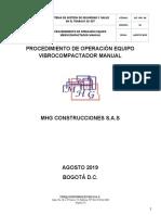 SST-PRC-06 PROCEDIMIENTO DE OPERACIÓN EQUIPO VIBROCOMPACTADOR MANUAL
