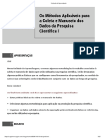 4- Os métodos pesquisa cinetífica I