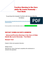 Advanced Practice Nursing in the Care of Older Adults by Laurie Kennedy – Test Bank
