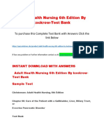 Adult Health Nursing 6th Edition by Kockrow-Test Bank