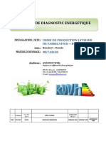 Exemple de Rapport d'Audit Energetique