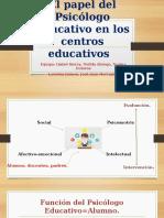 El papel del Psicólogo Educativo en los centros 2