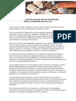 CONSENSO POR UNA FUNCION PÚBLICA PROFESIONAL PARA LA ARGENTINA DEL SIGLO XXI