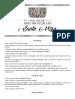 ALGUMAS ORIENTACOES PRATICAS PARA PARTICIPAR BEM DA SANTA MISSA