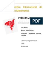 PROGRAMA IV ENCUENTRO INTERNACIONAL DE EDUCACION MATEMATICA