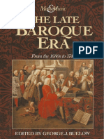The Late Baroque Era From the 1680s to 1740 by George J. Buelow (eds.)