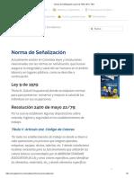 Norma de Señalización en Colombia