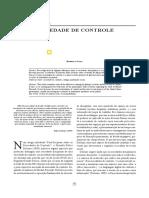SOCIEDADE DE CONTROLE