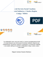 PRESENTACION CÁTEDRA SOCIAL SOLIDARIA