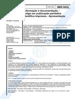 NBR 6022_2003 - Informação e documentação - Artigo em publicação periódica científica impressa - Apresentação