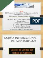 Exposición NIA 600