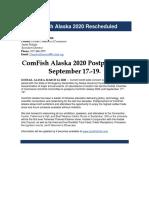 ComFish rescheduled