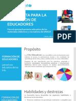 Día 1, Propuesta formación MPPE-UNICEF