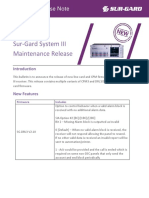 Sur Gard New Release Note - System III Maintenance (Global)