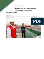 Plantas desalinizadoras en el sur de Lima Ministerio de Vivienda una realidad