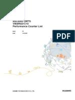 BSC6900 UMTS V900R021C10 Performance Counter List