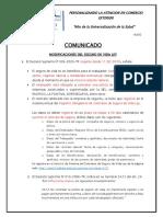 Comunicado AL002 - Seguro ley de VIda