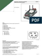 Módulo de comando CVT - descrição do componente