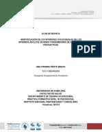 IDENTIFICACION DE LOS INTERESES VOCACIONALES EN LOS INTERNOS ADULTOS JOVENES CONSUMIDORES DE SUSTANCIAS PSICOACTIVAS