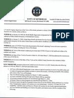 Town of Riverhead Emergency Declaration COVID-19
