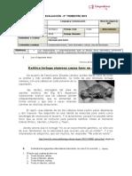 Evaluación Lenguaje y comunicación Texto informativo Noticia.docx