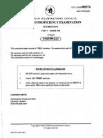 CAPE Pure Mathematics U1 2003 P3B
