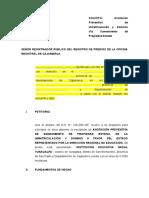 1. Solicitud de Anotacion del Predio (I.E. nº 1414)