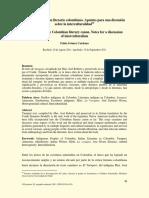 Yurupari y el canon literario colombiano. Apuntes para una discusión sobre la interculturalidad