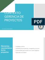 contexto gerencia proyectos