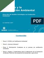 EL SENACE Y LA CERTIFICACION AMBIENTAL