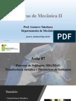 Soldagem Técnico Em Mecanica Aula 06 - MIG/MAG 02