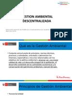 GESTION AMBIENTAL DESCENTRALIZADA