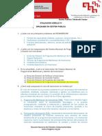 Evaluación GP MODULO IV - DIPLOMADO EN GESTIÓN PUBLICA