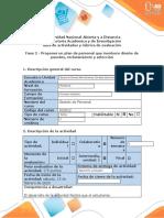 Guia de actividades y rubrica de evaluación - Fase 2 - Proponer un plan de personal que involucre diseño de puestos, reclutamiento y selección.docx