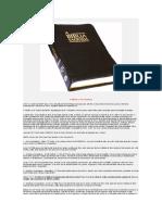 A Bíblia o livro de Deus