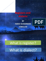REGISTERS AND DIALECTS