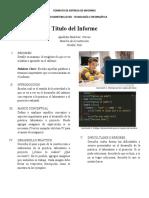 FORMATO ENTREGA DE INFORMES