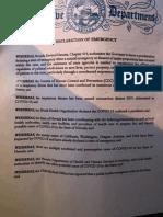 Sisolak emergency declaration coronavirus