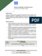 Agenda de Formación Ciclo i Sucre Sincelejo