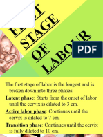 First Stage of Labour